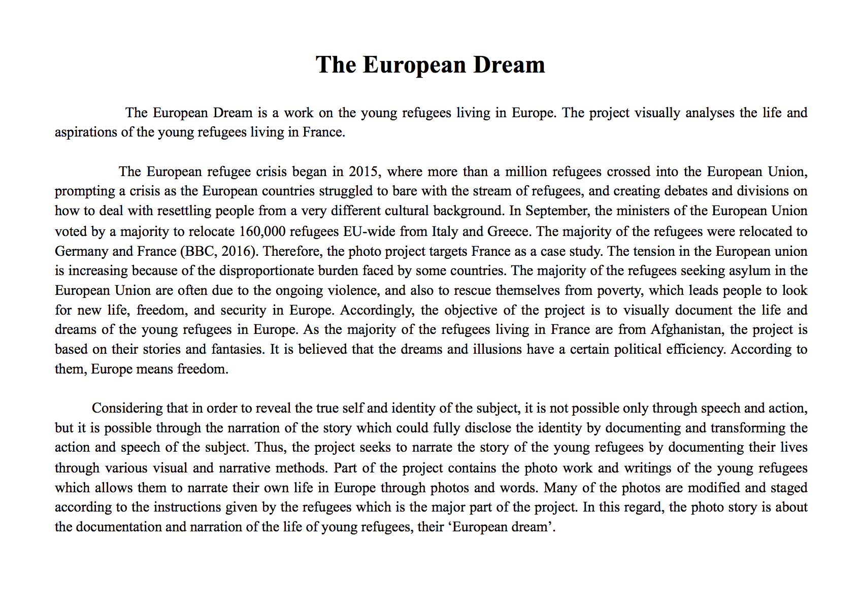 The European Dream: Introduction